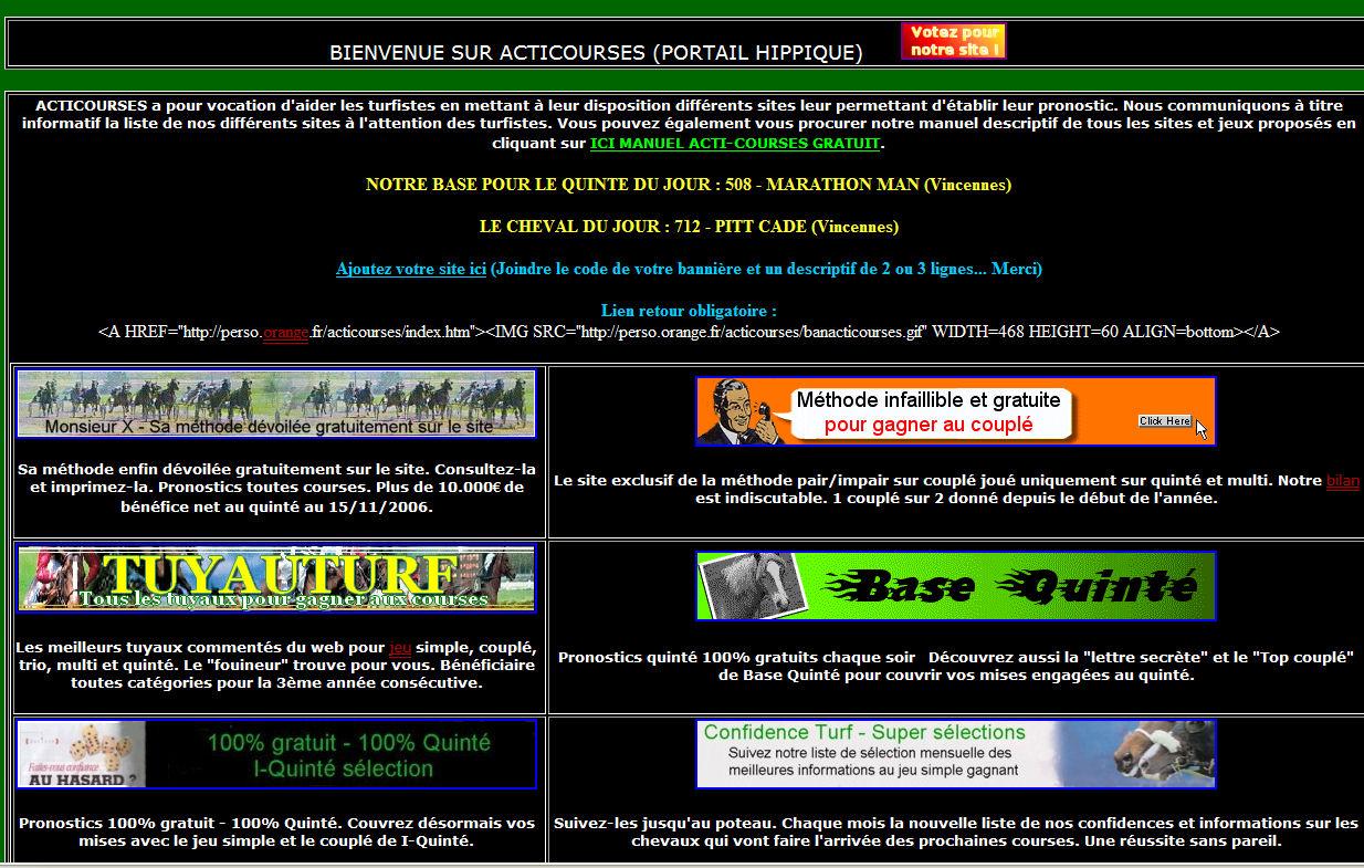 Annuaire Action Courses